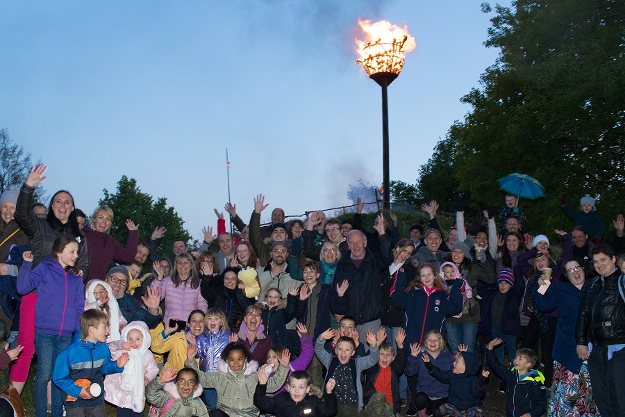 Beacon lit at Priory Farm