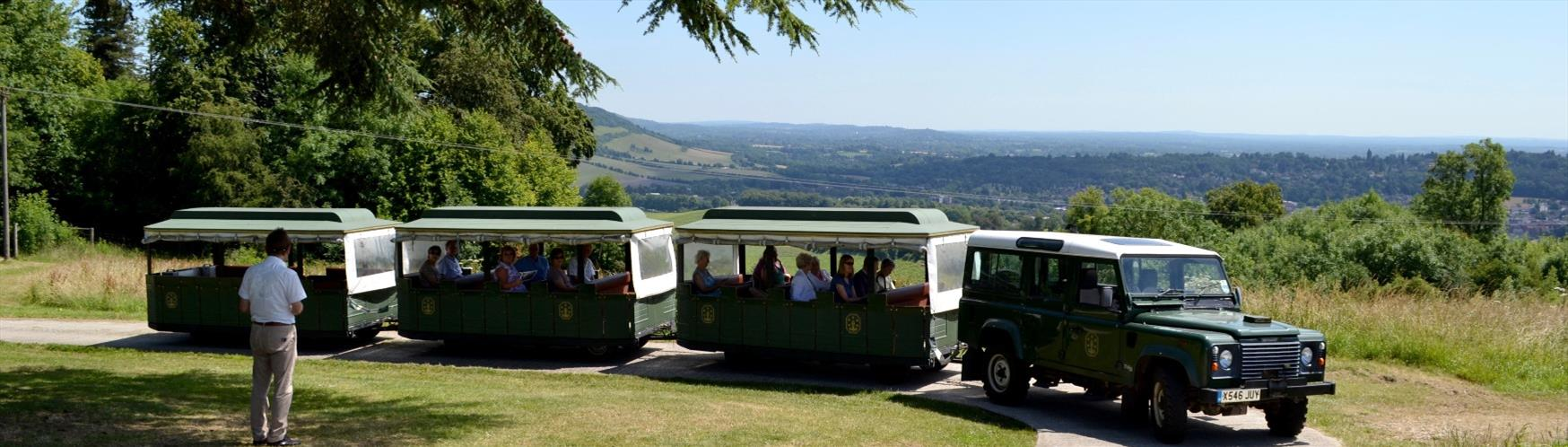 Discover Denbies Wine Estate by land train