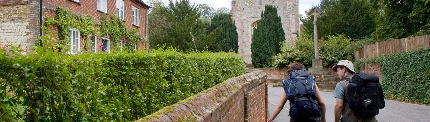 Walk the North Downs Way and pass through some beautiful villages