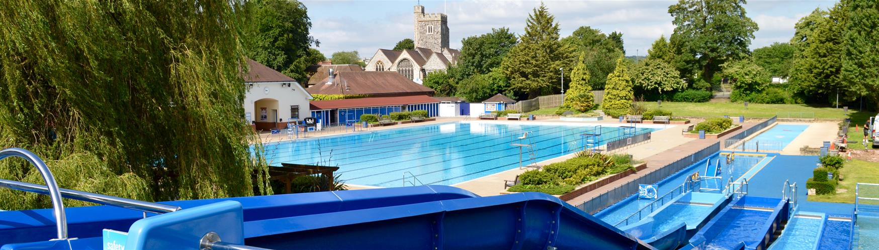 Cool down and relax at Guildford Lido