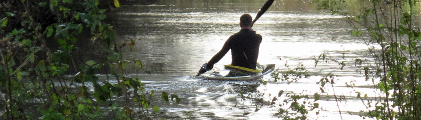 Canoeing down the River Wey