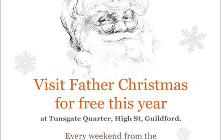 Visit Father Christmas at Tunsgate Quarter, Guildford