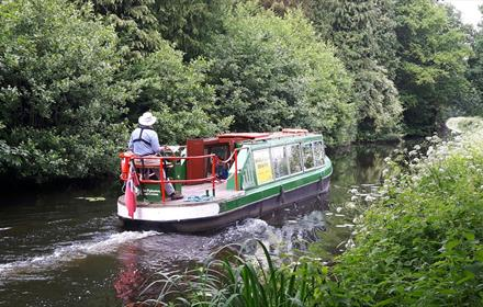 Boat Trips on the Basingstoke Canal in Woking aboard Kitty