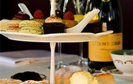 Vintage Sparkling Afternoon Tea in the Denbies Cellar