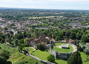 Aerial view of Farnham