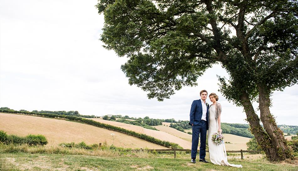 The Barn at Botley Hill, Bride and Groom, Surrey Hills