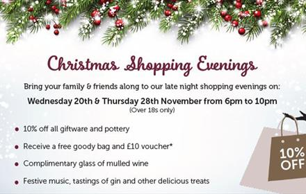 Christmas Shopping Evenings at Grayshott Pottery