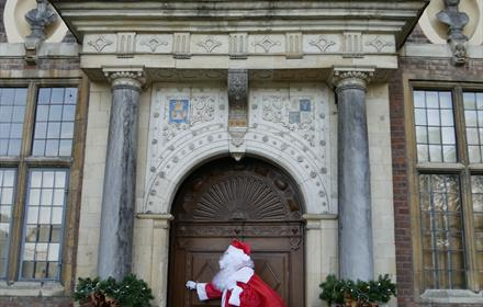 Father Christmas has moved in at Ham House