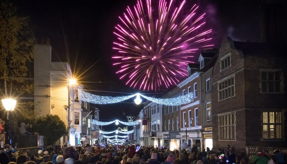Guildford Christmas Lights Switch on 2018