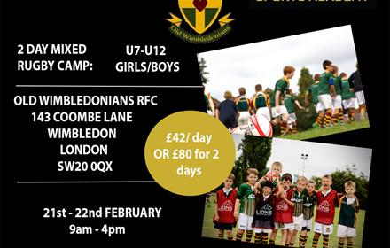 Lions Sports Academy Old Wimbledonians Rugby Camp