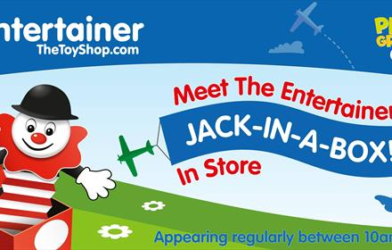 Meet Jack-in-a-box at The Entertainer