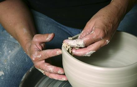 Pottery Throwing at Grayshott Pottery