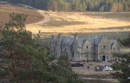 The Bond Mansion, film set Hankley Common, Surrey